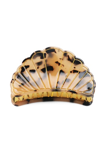 Kings Collection brown Scallop Shell Hair Clip (HA20252) E0430AC4EF55AAGS_1