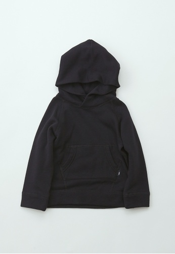 HÄP & CRAFT black Smile Cotton French Terry hoodie A7B9EKAF864D01GS_1