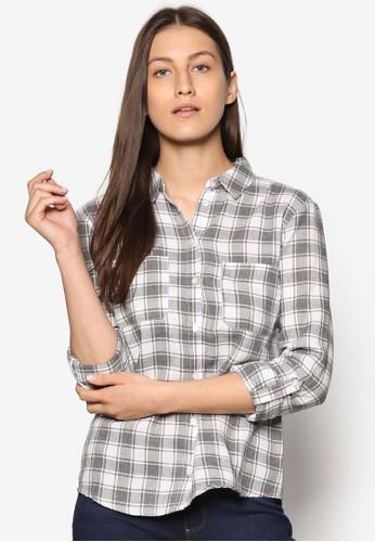 格紋休閒長袖襯衫、 服飾、 T-shirtDorothyPerkins格紋休閒長袖襯衫最新折價