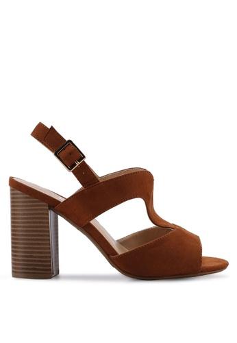 Divine Factory brown Jolene Heels B3BE9SH63ADE1FGS_1