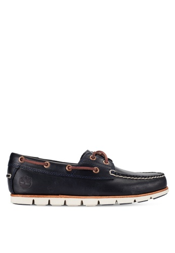 Timberland navy Tidelands 2-Eye Boat Shoes TI063SH97PJIMY_1