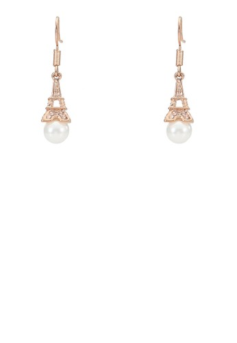 Eiffel Tower Whitesprit outlet 家樂福e Pearl Dangle Earrings, 飾品配件, 其他