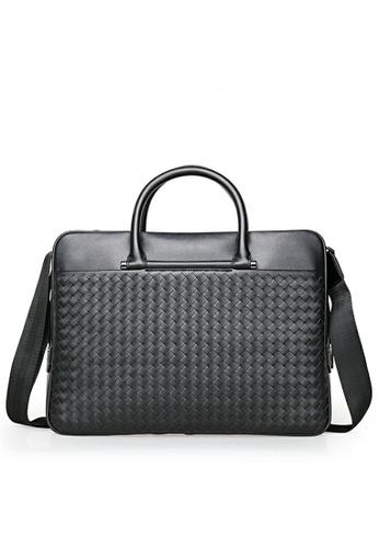 Twenty Eight Shoes Leather Business Briefcase THH-PR502 E0F4BACA7C0005GS_1