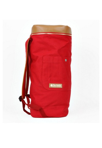 The Earth Canvas Duffle Bag Red TH763AC84OODHK_1