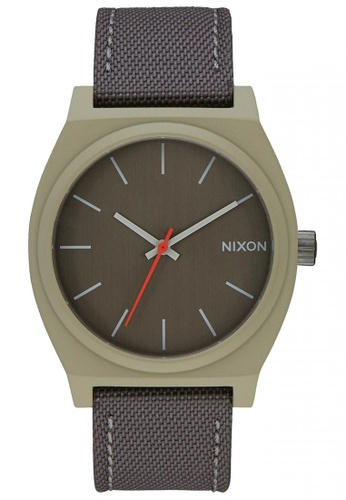 Nixon grey and green Nixon - Time Teller - Sage / Gunmetal NI855AC75SXGSG_1