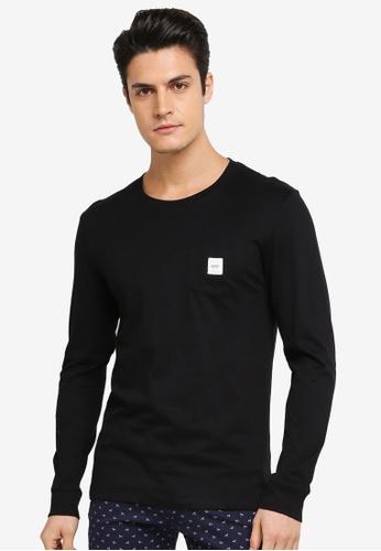 ESPRIT black Long Sleeve T-Shirt ES374AA0T18BMY_1