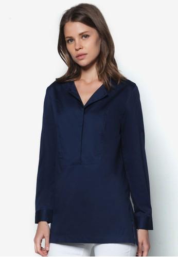 圓領長zalora 評價袖襯衫, 服飾, 上衣