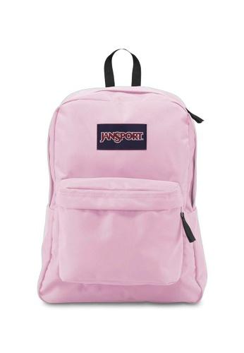 bce5ee28ea0c Jansport pink Jansport Superbreak Pink Mist Backpack 25L F0F4EACC630069GS 1