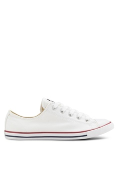 e1c13ff1e Converse white Chuck Taylor All Star Canvas Ox Women's Sneakers  CO302SH11GSUMY_1