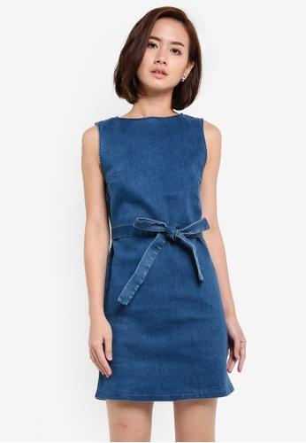 ZALORA blue Denim Shift Dress C5B81AAF38A61EGS_1