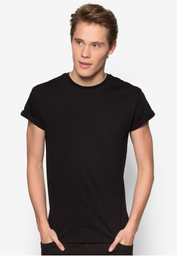 Topman 黑色 Black Roller T-Shirt TO413AA06HDTMY_1