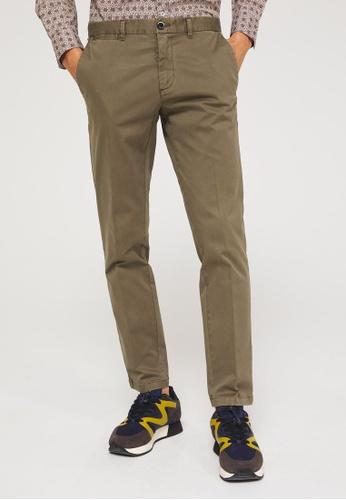 SISLEY 褐色 素色基本款長褲 F4168AA787481FGS_1