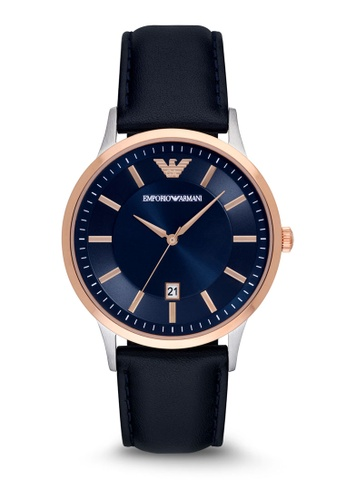 957cc3c66297 Buy ARMANI Emporio Armani Renato Leather Watch AR2506 Online on ZALORA  Singapore