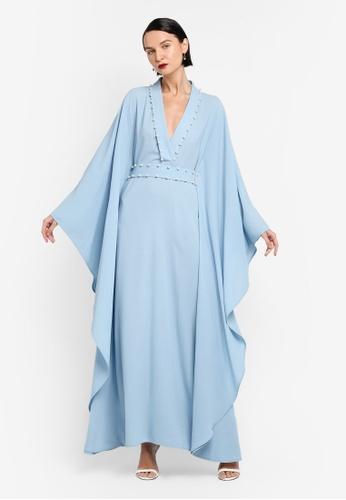 AfiqM blue TIARA Pearl Lined Kaftan AF546AA0SXQ0MY_1