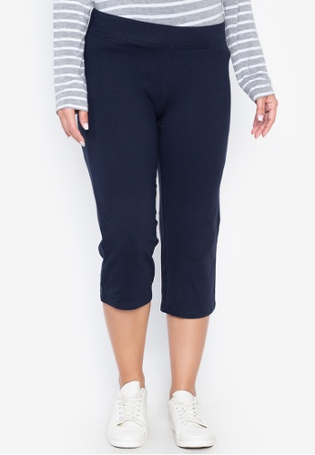 MARKS & SPENCER navy Cotton Rich Cropped Joggers 94578AA9BEA0D7GS_1