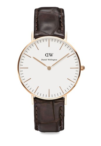 Daniel Wellington brown Classic York Watch DA965AC99AQIID_1