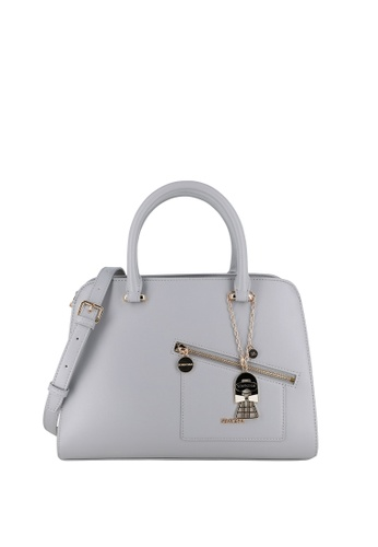 SEMBONIA grey Blooming Lover Dual Compartment Satchel Bag 77216ACB8D4E62GS_1
