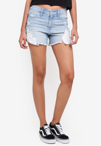 Hollister blue Midi Shorts 1157FAAF96FA81GS_1