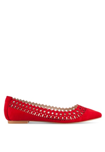 ZALORA red Laser Cut Flats 0330ESHF94FA05GS_1