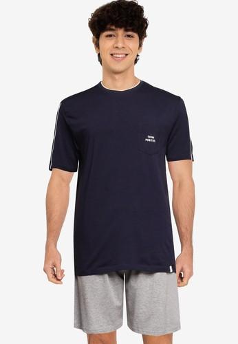 Springfield navy Jersey-Knit Short Pyjamas 4AF6FAA9F4A5A1GS_1