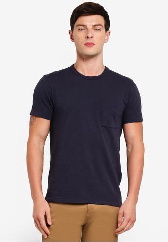 J.Crew 海軍藍色 休閒口袋T恤 98F89AA2E8E08BGS_1