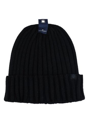 Springfield black Ribbed Beanie 08442ACC73E585GS_1
