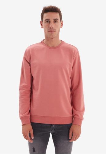 Trendyol pink Rose Sweatshirt 70D36AAB2F1615GS_1