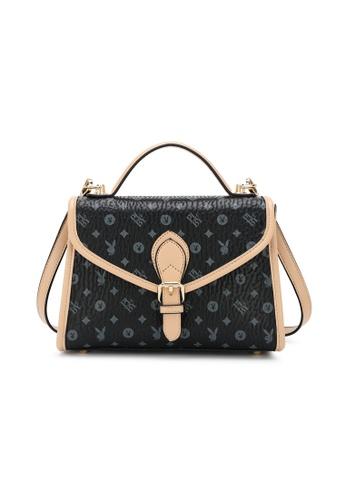 PLAYBOY BUNNY black Monogram Top Hand Bag C6EB1AC6946AA6GS_1
