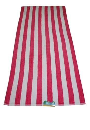 Martel pink Martel Beach Towel Stripes ADCDDHL495BD9EGS_1
