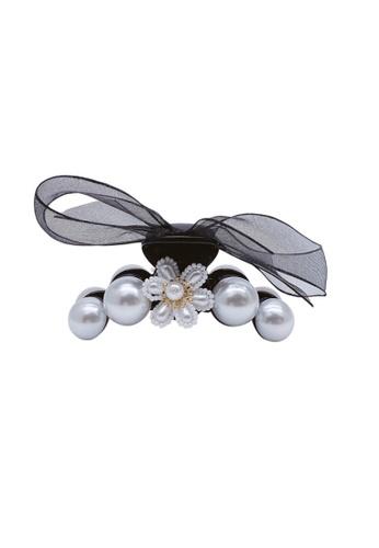 Kings Collection black Faux Pearl Bow Hair Clip (HA20185) A2750AC7C53EDEGS_1