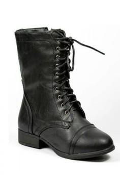 Plaid Combat Boots for Kids