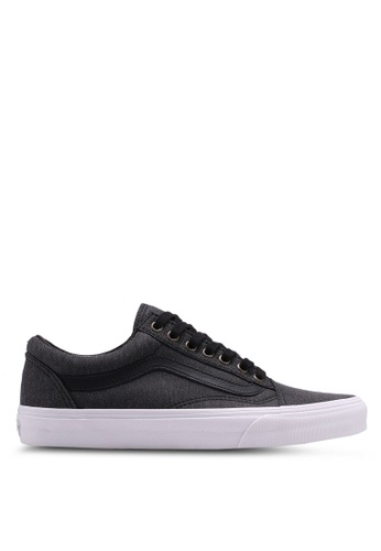 VANS black and white Old Skool Herringbone Sneakers VA142SH0SWQ1MY_1
