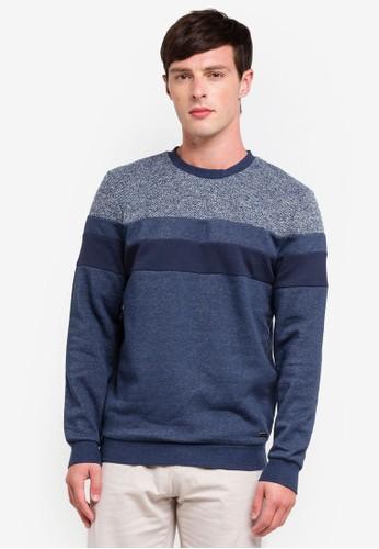 ESPRIT navy Long Sleeve Sweatshirt 4EA02AA7F624F8GS_1