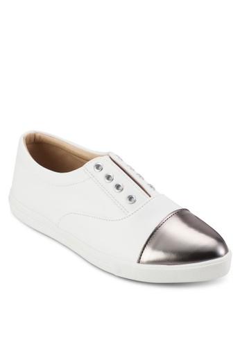 金屬感尖頭拼接zalora 衣服尺寸休閒鞋, 女鞋, 鞋