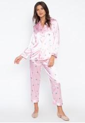 FEMINISM pink Longsleeve PJ Set 3CD2EAA16BD92BGS_1