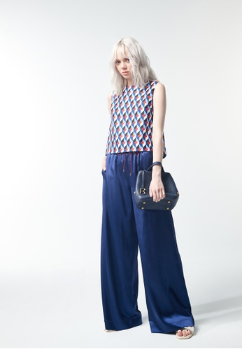 iROO blue Flare Trousers D3A34AADAA6144GS_1