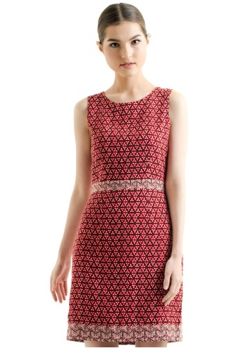 Bateeq Sleeveless Dobby Print Dress