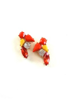 Orange Rock Candy Earrings
