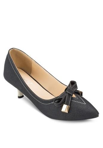 蝴蝶結尖頭高esprit 眼鏡跟鞋, 女鞋, 厚底高跟鞋
