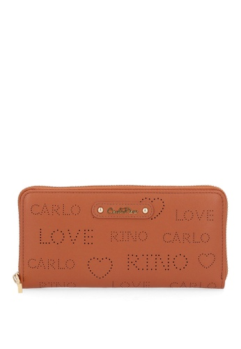 Carlo Rino brown Brown A Little Mischief Zip Wallet 0736BACA980A24GS_1