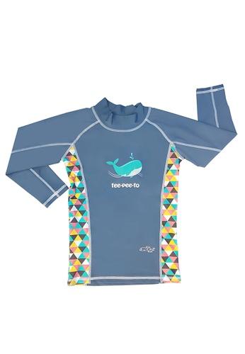 TeePeeTo grey and multi Whale UV50+ Long Sleeve C4F25KA246E180GS_1