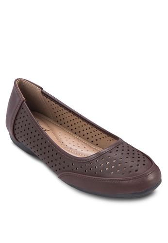 雕花拼接娃娃鞋, 女鞋, 芭蕾平底zalora是哪裡的牌子鞋