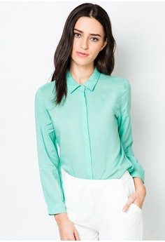 Button Down Long Sleeves Blouse