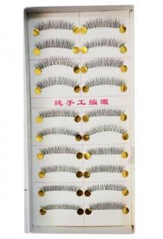 Natural Handmade False Eye Lashes (Set of 10)