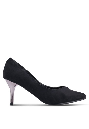 Carlton London 黑色 麂皮高跟鞋 DED1DSHEDB9E38GS_1