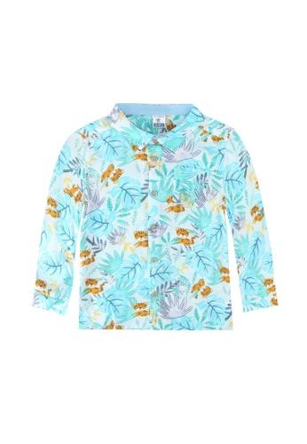 LC Waikiki blue Baby Boy Patterned Viscose Shirt A26A1KAC19DAA0GS_1