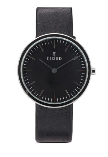 Gesprit outlet 高雄unnar 二指針皮革圓錶, 錶類, 飾品配件