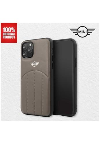 "Mini Cooper brown Mini Cooper Casing Iphone 11 Pro Max 6.5"" PU Leather Stitched - Brown BD728ES3A4BF1FGS_1"