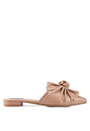 ZALORA beige Knotted Sandals 3D2ACSH027B0B5GS_1