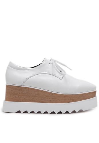 Twenty Eight Shoes white Wood Platform  Derbies 1629-2 TW446SH53DGSHK_1